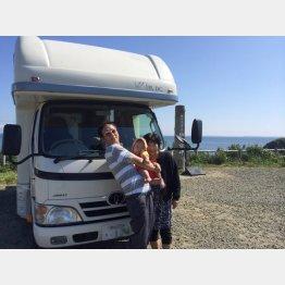 北海道で妻・絹子と孫と一緒に