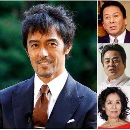(左から)阿部寛、杉良太郎、立川談春、倍賞美津子