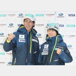 ジャンプ界のレジェンド(右は日本代表の伊藤有希)