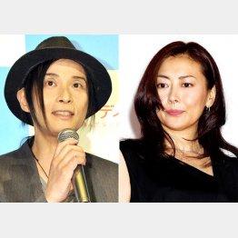 昨年7月に離婚が成立した辻仁成(左)と中山美穂