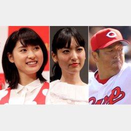 左から土屋太鳳、神田沙也加、黒田博樹