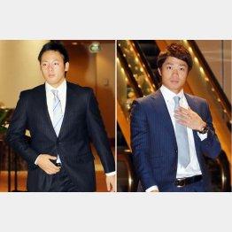 大幅増の松井裕(左)と日ハム中島