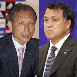 一騎打ちが予想される原博実氏(左)と田嶋幸三氏