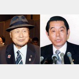 森喜朗元首相(左)と山口敏夫元労相