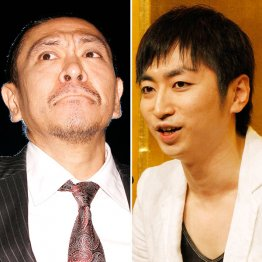 松本人志(左)と羽田圭介