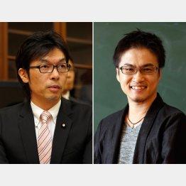 松田公太参院議員(左)と乙武洋匡氏