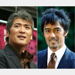好演した吉川晃司(左)と主演の阿部寛