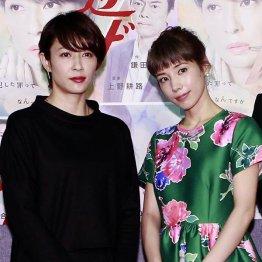 主演の水野美紀(左)と仲里依紗
