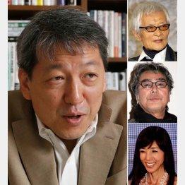 左から時計回りで竹田圭吾と緒形拳と原田芳雄と川島なお美