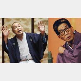 三遊亭究斗(左)と円丈師匠