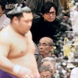 大相撲初場所をプライベートで観戦する由伸監督