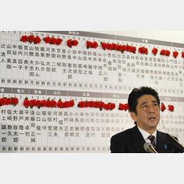 2012年衆院選投開票日の安倍首相