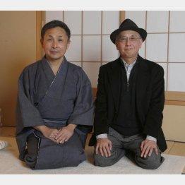 語り・中村芝雀(左)と聞き手・吉川潮