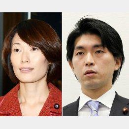宮崎議員(右)が辞めた日に急きょ謝罪した丸川環境相