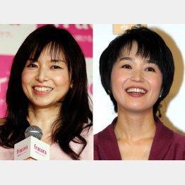 山口智子(左)と小野文惠