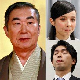 左から時計回りに桂文枝・ベッキー・宮崎謙介
