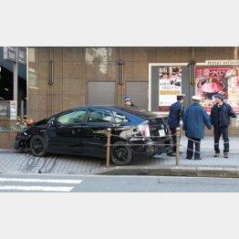 梅田の事故現場(C)日刊ゲンダイ