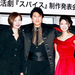 左からえまおゆう、川崎麻世、倉持明日香