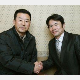 達川光男氏(左)と仁志敏久氏