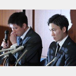 桃田をカジノに誘った田児(左)は泣いていたが