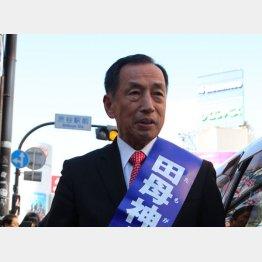 都知事選では渋谷駅で第一声