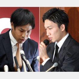 1年間の失格処分の巨人・高木(左)とリオ五輪出場が消滅の桃田