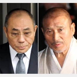 神戸山口組組長の井上邦雄(左)と6代目山口組組長の司忍