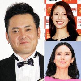 有田哲平、松下奈緒(右上)、中谷美紀(右下)