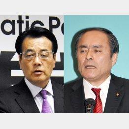 民進党にすがった社民党吉田党首(右)