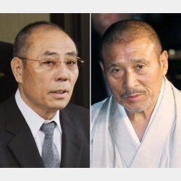 井上邦雄・神戸山口組組長(左)と司忍・6代目山口組組長