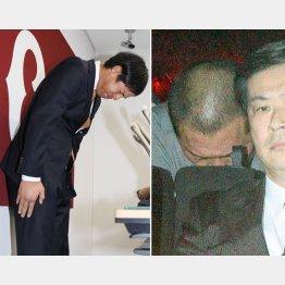 週刊文春の取材で悪事が発覚した高木京介元選手(左)と清原和博被告