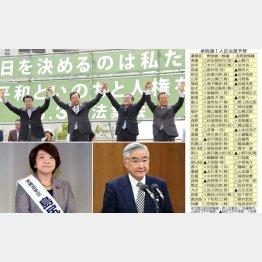 統一候補がくさびを打ち込み全勝も(写真左下から島尻、岩城両大臣)