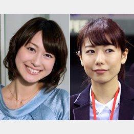 小川彩佳(左)と青山愛