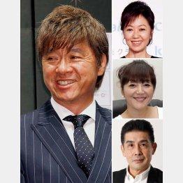 (左から時計回りに)西城秀樹、浅田美代子、岩崎宏美、角川博