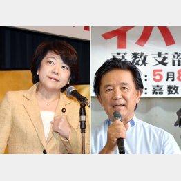 公明党も支援に及び腰の島尻沖縄担当相(左)と「堅実な理論派」と評判の伊波洋一候補