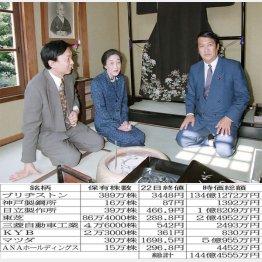 鳩山会館内覧会で(左から由紀夫氏、母の安子さん、邦夫氏)/(C)日刊ゲンダイ