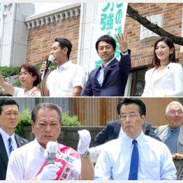 上は最強応援団(右から吉川議員、進次郎議員)と、こわもてコンビ