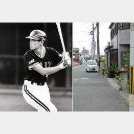 野球ごっこをした場所(左)