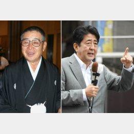 大橋巨泉(左)と安倍首相