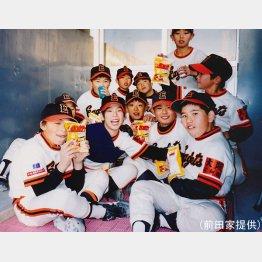 入団当時の前田と仲間たち