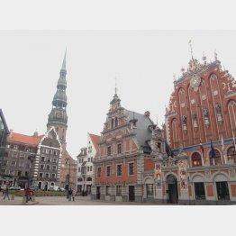 ヨーロッパ1位に選ばれた街並み(ラトビア・リガ)