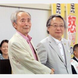 樋口陽一東大名誉教授(左)と小林節氏