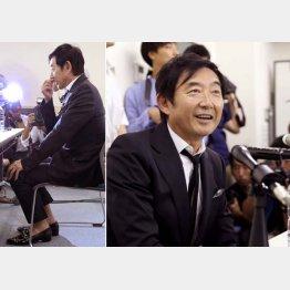 カジュアルな格好で会見に挑んだ石田純一