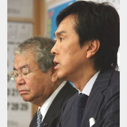 都連会長の石原伸晃(右)と幹事長の内田氏(C)日刊ゲンダイ