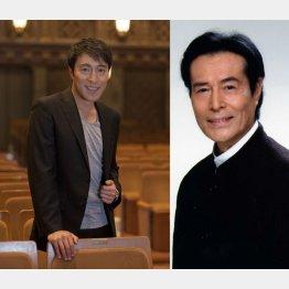 俳優の加藤頼(左)と加藤剛