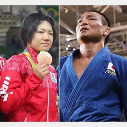 中村美里(左)と海老沼匡も銅メダルに終わった