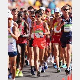 松永は五輪競歩で日本人初入賞