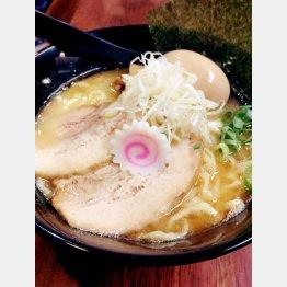 「俺麺 山田」の『濃厚白湯味玉らー麺』