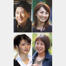 (左から時計回りに)堀潤、宮瀬茉祐子、上田まりえ、阿部哲子