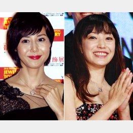 松嶋菜々子(左)と菅野美穂